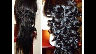 Foil Method Curls/ Wand Curls Using Flat Iron 1