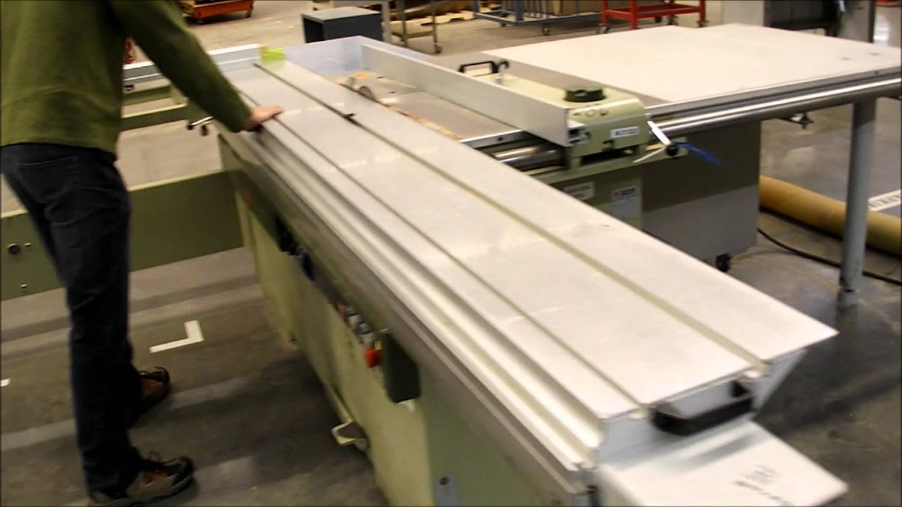 Scm model hydro 3200 table saw youtube for 10 foot sliding table saw
