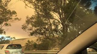 Smoke From Whittier Fire Covers Sky