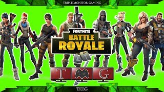 FORTNITE BATTLE ROYALE limited mode TEAMS OF 20 | Triple monitor gameplay 5760x1080