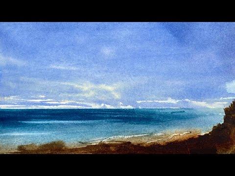 Simple Watercolour Landscape Painting Tutorial