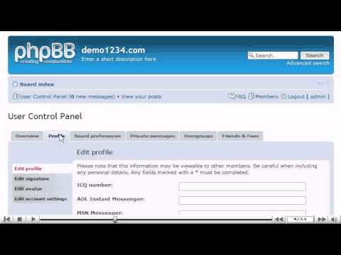 How to edit your profile in phpBB - phpBB Tutorials