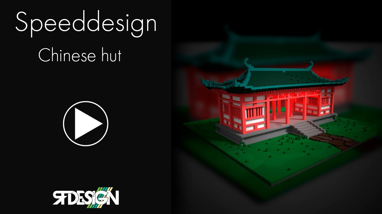 MagicaVoxel Speed model : Chinese building
