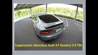 Suppression Silencieux Arrière Audi A7 TDI 3.0 V6 Quattro