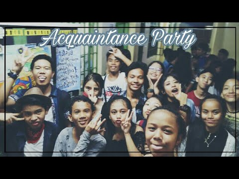 acquaintance social gathering essays