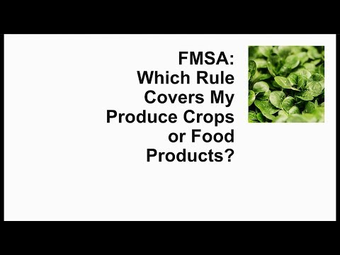 FSMA_Produce Safety/Human Food Rule_Single Video Version
