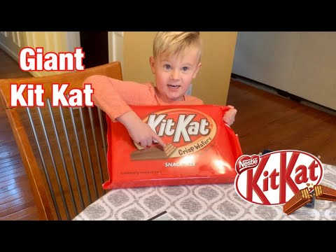 Download Opening Giant Kit Kat Candy Bar from Hershey's Chocolate World
