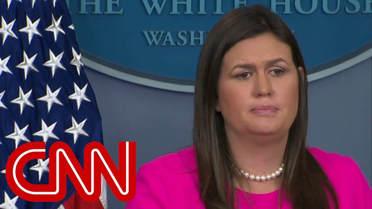 Sarah Sanders questioned about Woodward's book, NYT op-ed