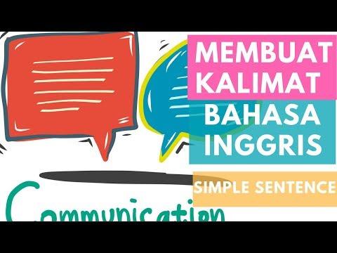 Membuat kalimat Bahasa Inggris-Simple Sentence