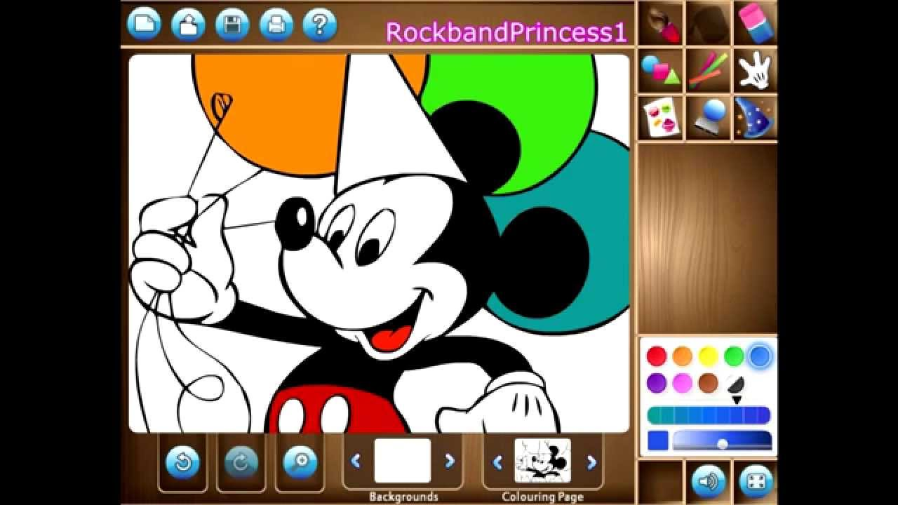Uncategorized Disney Drawing Games disney mickey mouse game painting games art youtube
