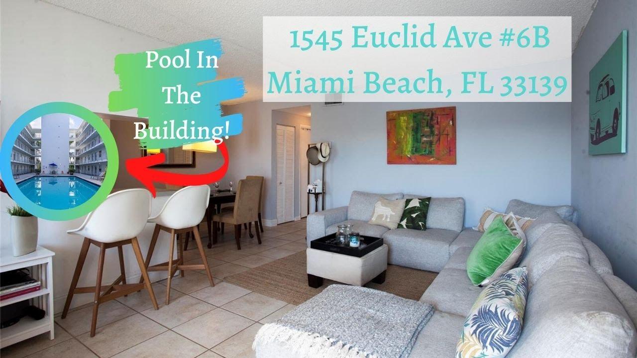 For Rent! 1/1.5 + Den - 1545 Euclid Ave #6B, Miami Beach, FL
