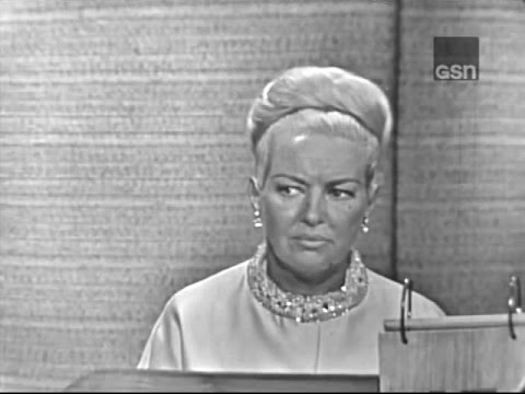 What's My Line?  Betty Grable; Steve Allen panel Aug 29, 1965
