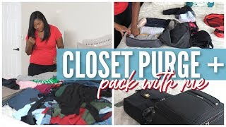 🍂 Fall Closet Clean Out + ✈️ Pack With Me | Getting It All Done