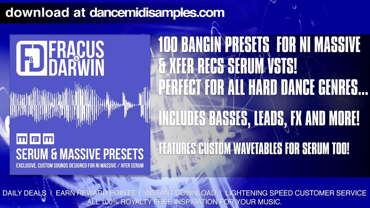 Xfer Records Serum & NI Massive Presets From Fracus & Darwin