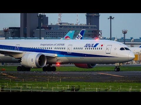 Takeoff Boeing 787-9 Dreamliner at q Narita Airport /離陸ボーイング787型機中国国/Взлет Boeing 789 в Токио
