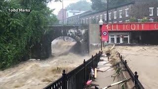 Elderly Woman Taken to Higher Ground as Flash Floods Hit Ellicott City, Maryland