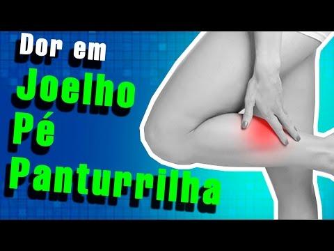 Panturrilha constante na dor no e inchaço tornozelo