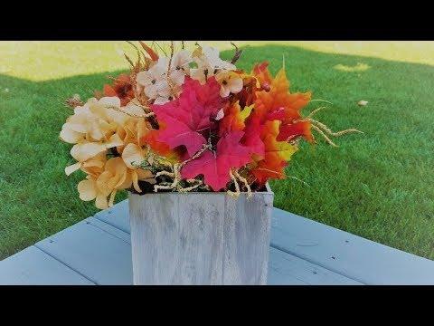Dollar Tree DIY planter box. Super easy, decorate it w/ anything