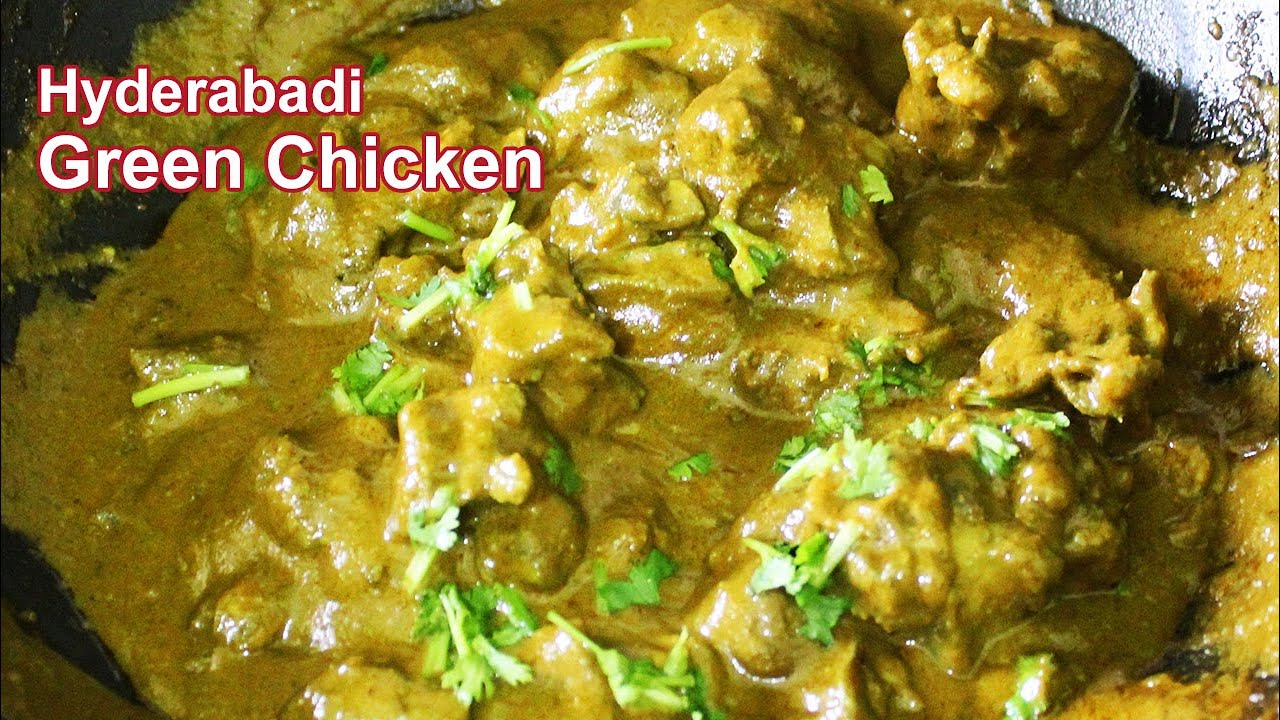 Hyderabadi Green Chicken Recipe | Hyderabadi  Chicken Dum ka Hara Murgh  | Made During Functions