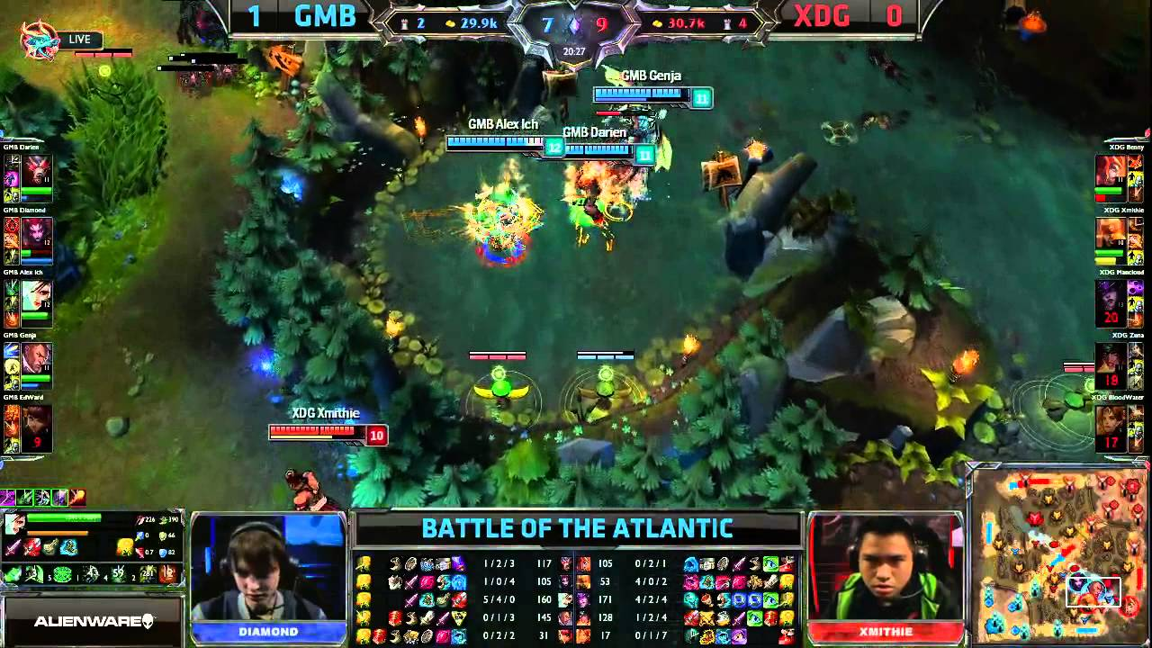 gambit gaming vs xdg game 2 eu vs na battle of the atlantic 2013