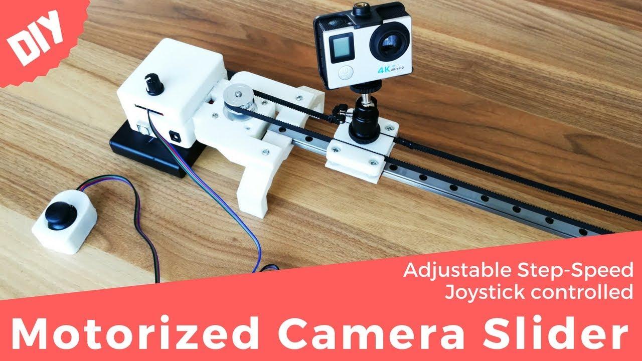Diy Arduino Motorized Camera Slider Adjustable Step Speed And Joystick Controlled