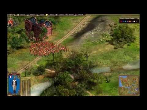 Cossacks II Multiplayer Game 1v1 Sizzlorr vs regent pt.1/2 |