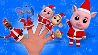 Santa Finger Family  Kindergarten Nursery Rhymes For babies by Farmees