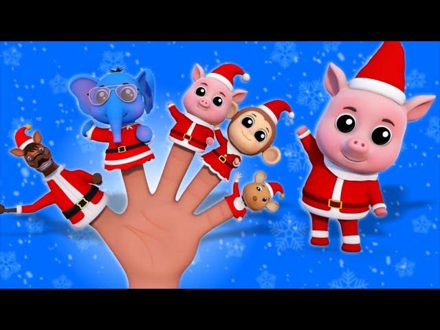 Santa Finger Family | Kindergarten Nursery Rhymes For babies by Farmees