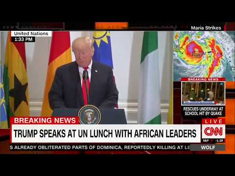 """Donald Trump MAKES UP IMAGINARY African Country Of """"Nambia"""" Then Praises It 😂"""
