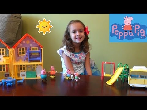 Peppa Pig and Lost Puppy Story Time with Peppa Pig House Toy Set, Ariel Castle, Frozen Anna and Elsa