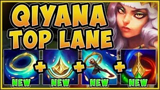 WTF! IS RIOT TROLLING US WITH THIS NEW CHAMP?? NEW QIYANA SEASON 9 TOP GAMEPLAY! - League of Legends