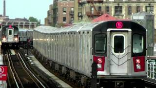 IRT Subway: Seven R142s (2) & (5) LCL / EXP Trains at Intervale Ave