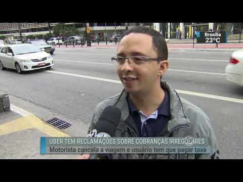 Uber recebeu cinco mil reclamações por cobrança irregular em 2017   SBT Brasil (20/02/18)