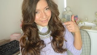My Everyday Hair Routine I Enrapture Extremity Heated Rollers Tutorial I Dizzybrunette3