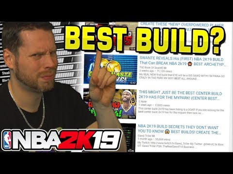 Best NBA 2K19 Build? WHO CARES! REAL MAN'S BUILD CHALLENGE!!