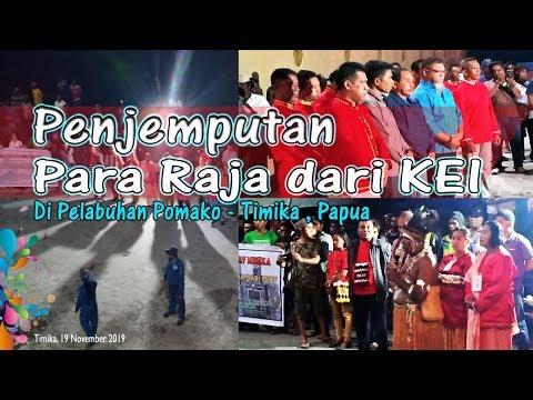 Penjemputan Para Raja Dari Kei Di Timika - Papua
