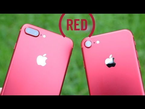 iPhone RED (rouge) en version 7 et 7 plus