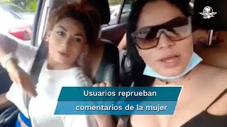 En un video en redes sociales se observa a tres mujeres a abordo de un automóvil, cuando una de ellas, quien conduce, señala que su amiga saldrá casada con un oaxaqueño, a lo que la otra mujer responde con comentarios despectivos, lo que sus amigas celebran a carcajadas