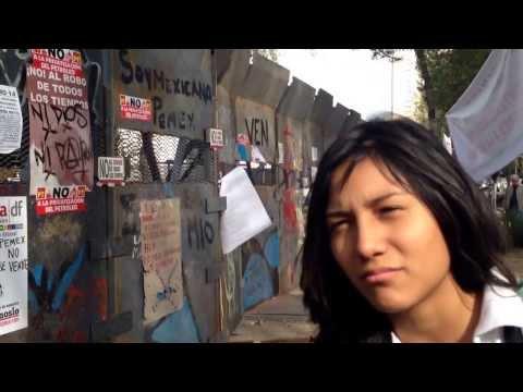 Estudiante mexicana opina sobre la privatización del Petróleo y el derecho a la protesta