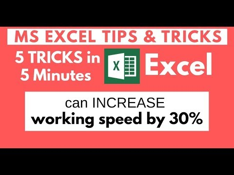 5 Amazing Excel Tips Tricks Speed up Work Efficiency Microsoft Excel thumbnail