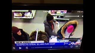 Fur Coat Stolen from Macy's Backstage in Brooklyn worth $2400.00.