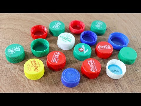 plastic-bottle-caps-recycling-idea-!-best-out-of-plastic-bottles-caps-!-craft-projects-!