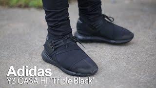 on foot review  with originxl grvg   adidas y3 qasa high black