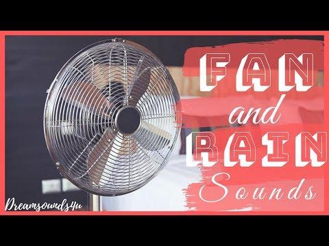 ASMR: Fan Sounds For Sleeping (Fan And Rain) - 1 Hour