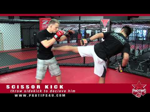 MMA Tips:  Cung Le Demonstrates how to do a Scissor Kick