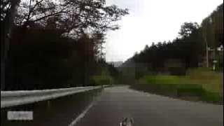 リカンベントraptobikeで雛鶴峠(8/10)新雛鶴隧道ダウンヒル~都留第二トンネル