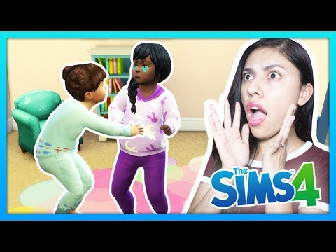 SHE BIT HER LITTLE SISTER! - The Sims 4 - My Sims Life - Ep 37 thumbnail