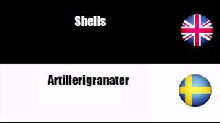 from english to swedish ammunition