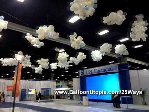 How To Make Balloon Clouds Youtube