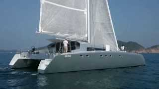 Catamaran BAÑULS 60 / MC²60 #1 Mach² sailing in Hong Kong (1/2)